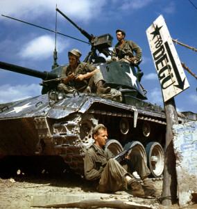 Американские танкисты летом 1950 года в Корее