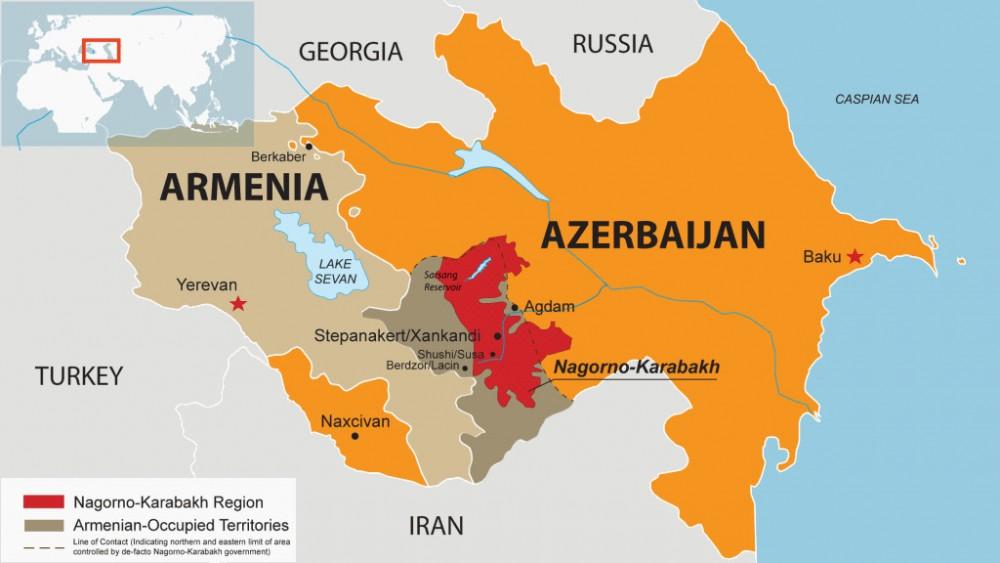 Политическая карта армянско-азербайджанского конфликта