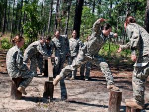 Солдаты армии США тоже тренируются