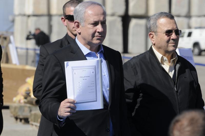 Премьер-министр Беньямин Нетаньяху и Министр обороны Эхуд Барак