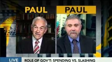 Пол Кругман против Рона Пола