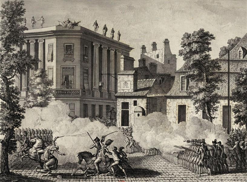 Столкновение французской гвардии с Королевским немецким полком