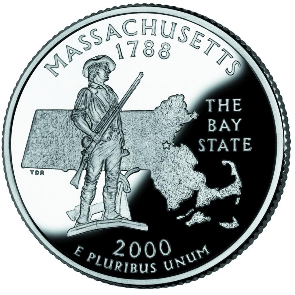 монета номиналом 25 центов
