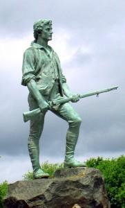 Памятник минитменам Лексингтона