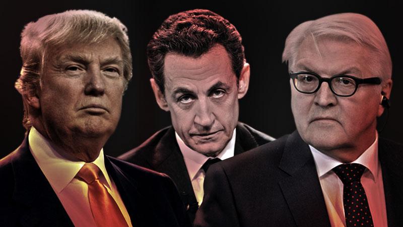 Трамп, Саркози и Штайнмайер