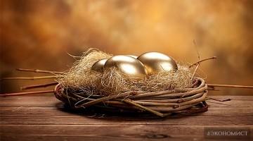 Куриные яйца становятся золотыми