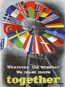 Плакат, посвящённый плану Маршалла