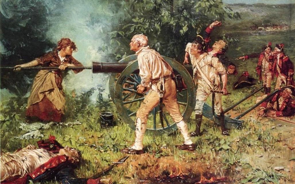 """Молли Питчер в битве при Монмуте, 1778"" Франц Людвиг Катель"
