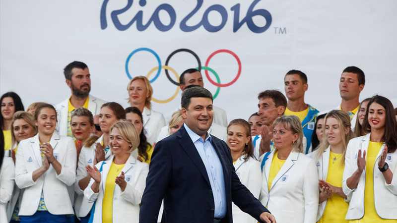 Премьер-министр Украины Владимир Гройсман – главный талисман нашей Олимпийской сборной