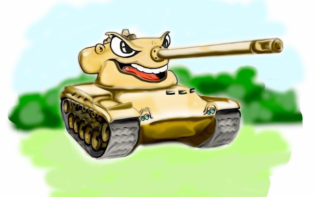 Рисованный танк