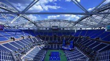 На главной трибуне US Open смонтировали выдвижную крышу