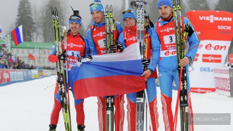 Российские биатлонисты