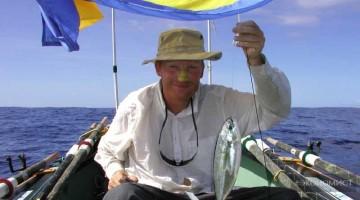 Теодор Резвой на весельной лодке в одиночку пересек Атлантику