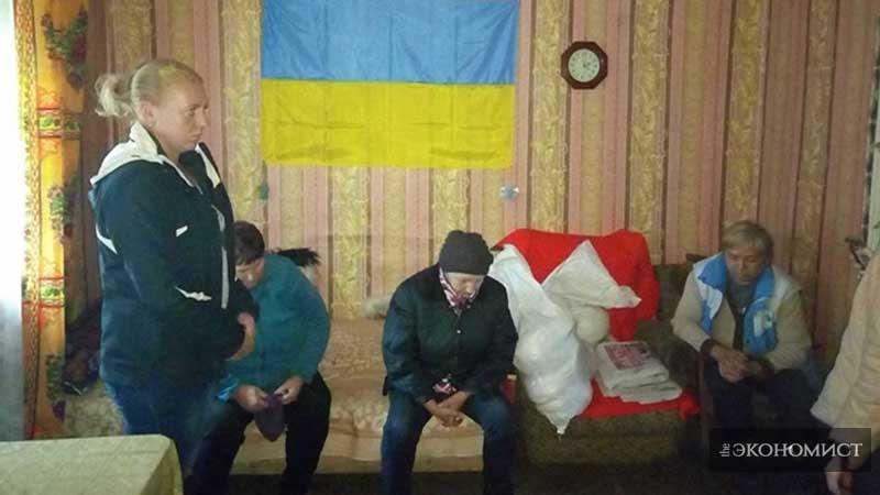 В с.Бахмутка, Бахмутский район, Донецкая область. Общение с местными жителями.