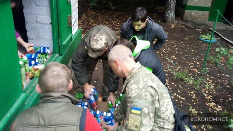 Бахмутский р-н, Донецкая область. Доставка гуманитарной помощи.